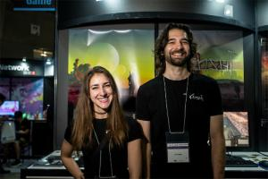 Chris and Natalie at TGS via 4Gamer