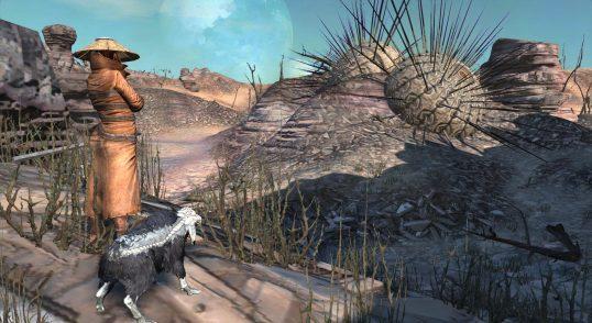 desert dystopian wasteland
